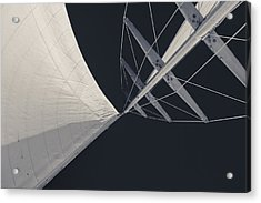 Obsession Sails 8 Black And White Acrylic Print by Scott Campbell