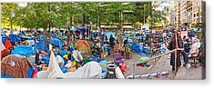 Occupy Wall Street At Zuccotti Park Acrylic Print by Panoramic Images