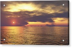 Acrylic Print featuring the digital art Ocean 2 by Mark Greenberg