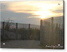 Acrylic Print featuring the photograph Ocean Access At Sunrise by Robert Banach