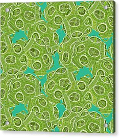 Ocean Algae Acrylic Print by Sharon Turner