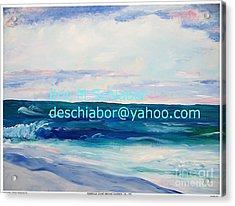 Ocean Assateague Virginia Acrylic Print by Eric  Schiabor