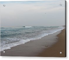 Ocean At Buxton Nc 4 Acrylic Print by Cathy Lindsey