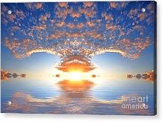 Ocean At Sunset Acrylic Print by Michal Bednarek