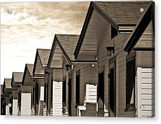 Ocean Beach Bungalows Acrylic Print by Larry Butterworth
