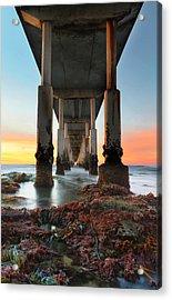 Ocean Beach California Pier 2 Acrylic Print by Larry Marshall