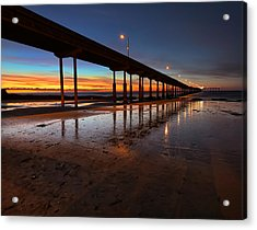 Ocean Beach California Pier 4 Acrylic Print by Larry Marshall