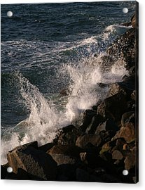 Ocean Beach Splash 3 Acrylic Print