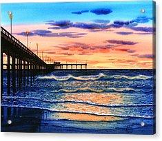 Ocean Beach Sunset Acrylic Print