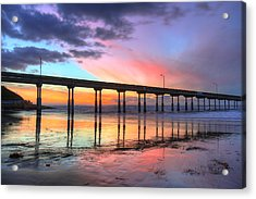 Ocean Beach Sunset Acrylic Print