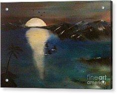 Ocean Blue Acrylic Print by Denise Tomasura