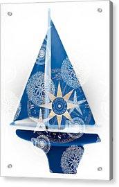 Ocean Blue Acrylic Print by Frank Tschakert