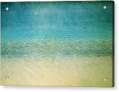 Ocean Blue Acrylic Print by Heather Green