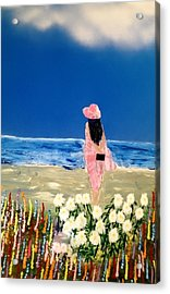 Acrylic Print featuring the painting Ocean Breeze by Michael Rucker