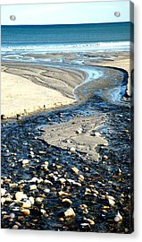 Ocean Carved Masterpiece Acrylic Print by Jennifer Russo