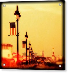 Ocean City At Dusk Acrylic Print