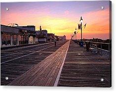 Ocean City Boardwalk Sunrise Acrylic Print