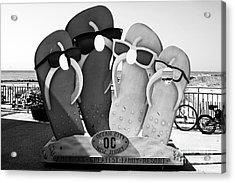 Ocean City Bw Acrylic Print