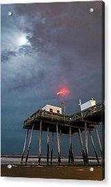 Ocean City By Moonlight Acrylic Print
