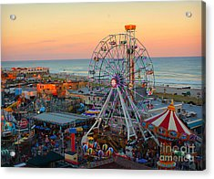Ocean City Castaway Cove And Music Pier Acrylic Print