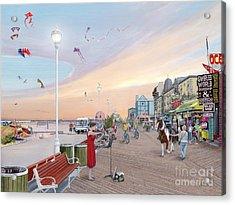 Ocean City Maryland Acrylic Print by Albert Puskaric