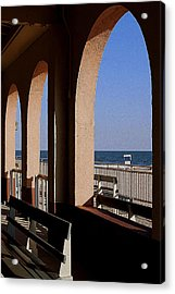 Ocean City Music Pier View Acrylic Print by Mary Beth Landis