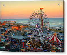 Ocean City Nj Boardwalk And Music Pier Acrylic Print