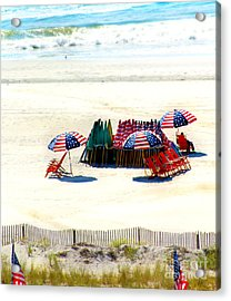 Ocean City Nj Stars And Stripes Acrylic Print