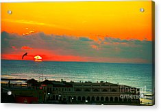 Ocean City Sunrise Over Music Pier Acrylic Print