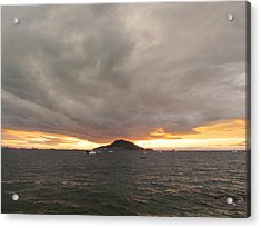 Ocean Cloud Sunrise Acrylic Print