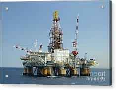 Ocean Confidence Drilling Platform Acrylic Print
