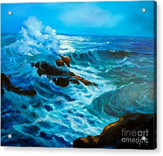 Acrylic Print featuring the painting Ocean Deep by Jenny Lee