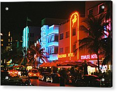 Acrylic Print featuring the photograph Ocean Drive Film Image by Gary Dean Mercer Clark