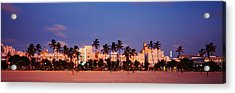 Ocean Drive South Beach Miami Beach Fl Acrylic Print by Panoramic Images