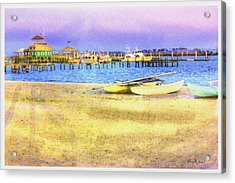 Coastal - Beach - Boats - Ocean Front Property Acrylic Print