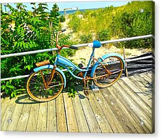 Acrylic Print featuring the photograph Ocean Grove Bike by Joan Reese