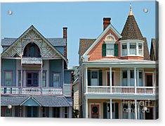 Ocean Grove Gingerbread Homes Acrylic Print by Anna Lisa Yoder