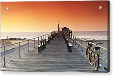 Ocean Grove Jetty In Nj Acrylic Print