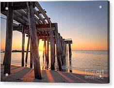Ocean Grove Pier Sunrise Acrylic Print