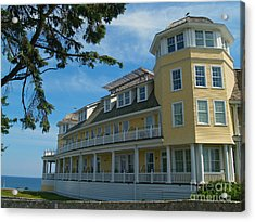 Ocean House Side View - Watch Hill Acrylic Print by Anna Lisa Yoder