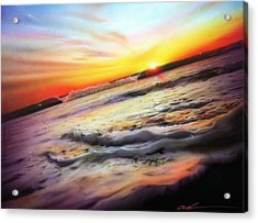 Ocean - ' Ocean Infinity ' Acrylic Print by Christian Chapman Art