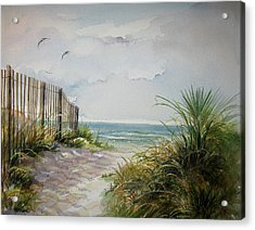 Acrylic Print featuring the painting Ocean Isle Beach Sold by Gloria Turner