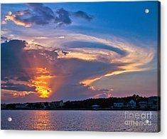 Ocean Isle Sunset Acrylic Print