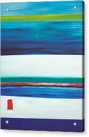 Acrylic Print featuring the painting Ocean Journey by Phoenix De Vries