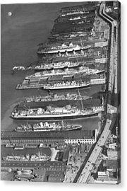 Ocean Liners At Nyc Dock Acrylic Print