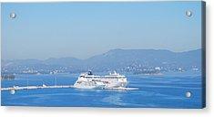 Ocean Liners In Corfu Acrylic Print
