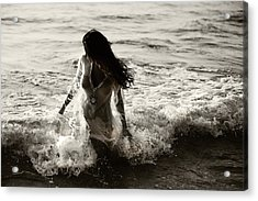 Ocean Mermaid Acrylic Print by Jenny Rainbow