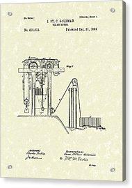 Ocean Motor 1889 Patent Art Acrylic Print