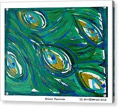 Ocean Peacock Acrylic Print