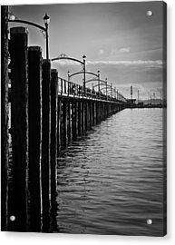 Ocean Pier In Black And White II Acrylic Print